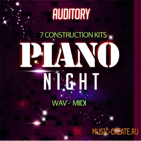 Auditory - Cinematic Piano Night (WAV MiDi) - сэмплы фортепиано