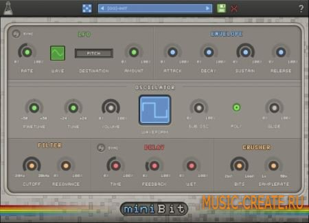 AudioThing - miniBit v1.2.0 WiN/MAC (Team R2R) - 8-битный синтезатор