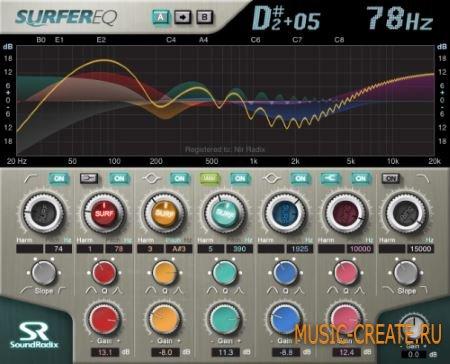 Sound Radix - SurferEQ v1.2.6 (Team R2R) - эквалайзер
