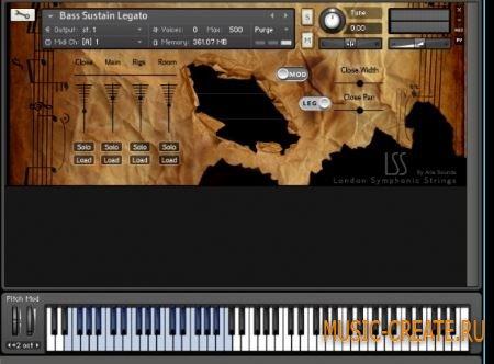 ARIA Sounds - London Symphonic Strings Double Basses (KONTAKT) - библиотека струнных