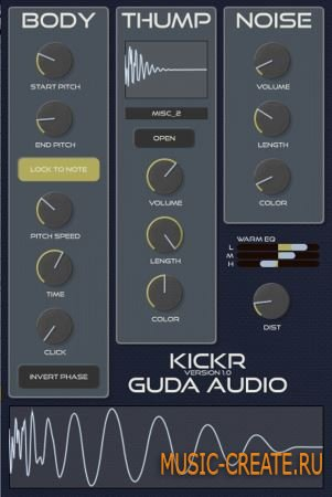 Guda Audio - KickR v1.2 WiN/MAC (Team UNION) - драм-синтезатор