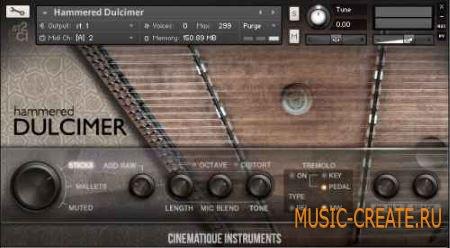 Cinematique Instruments - Hammered Dulcimer (KONTAKT) - библиотека звуков молоточковой цимбалы