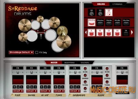 Impact Soundworks - Shreddage Drums (KONTAKT) - библиотека звуков ударных в rock, metal стиле