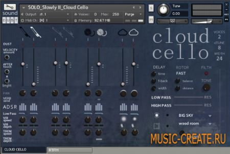 sound DUST - Cloud Cello (KONTAKT) - гибридная звуковая библиотека