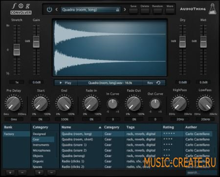 AudioThing - Fog Convolver v1.2.1 WIN MAC OSX (Team R2R) - конволюционный процессор