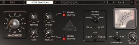 Kuassa - Kratos 2 Maximizer v1.0.2 VST VST3 x86 x64 (Team CHAOS) - лимитер, максимайзер