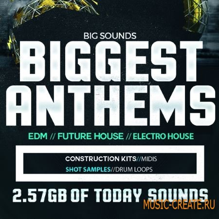 Big Sounds - Biggest Anthems (WAV) - сэмплы EDM, Future House, Electro House