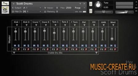 Ivy Audio - Scott Drums (KONTAKT) - библиотека ударных