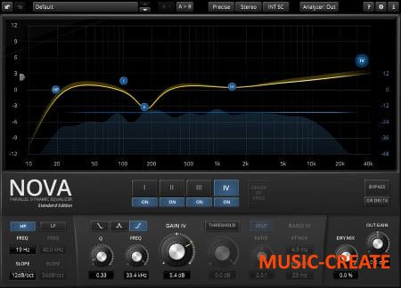 TDR - Nova v1.0.5 Parallel Dynamic Equalizer (WIN MAC) - эквалайзер