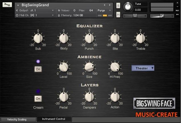 BigSwingFace - Big Swing Grand 2.0 (KONTAKT) - библиотека звуков пианино