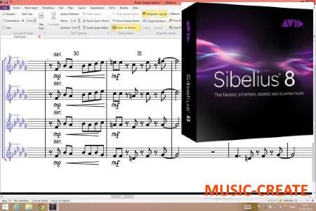 Avid - Sibelius v8.1.0 Win64 / 8.5.0 MacOSX (TEAM R2R/P2P) - нотный редактор