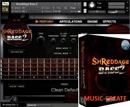 Impact Soundworks - Shreddage Bass 2 (KONTAKT) - библиотека звуков электро-бас гитары