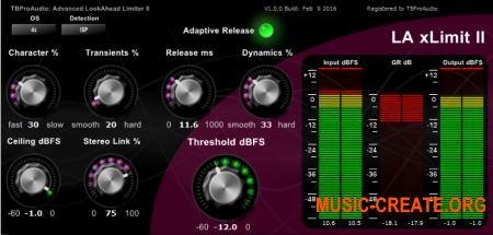 TBProAudio - LA xLimit II v1.1.0 32/64 AAX RTAS VST3 VST CE (Team V.R) - плагин лимитер