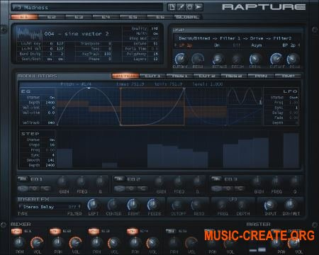 Cakewalk - Rapture v1.2.2.10 (Team R2R) - синтезатор