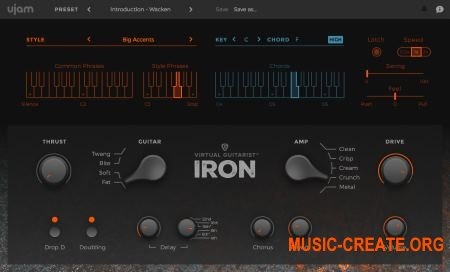 UJAM - Virtual Guitarist IRON v1.0.1 WiN/OSX (Team R2R) - виртуальная гитара