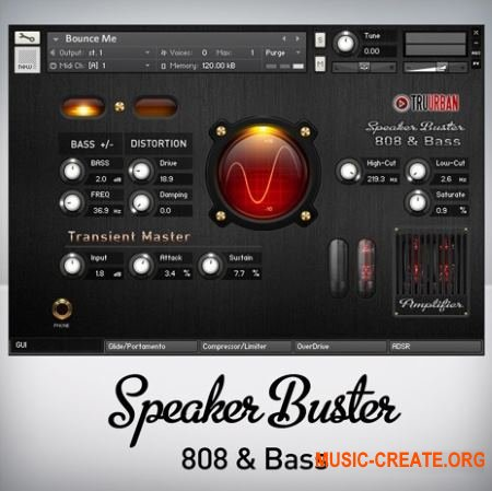 TRU-URBAN - Speaker Buster 808 and Analog Synth Bass (KONTAKT) - бас-машина и синтезатор