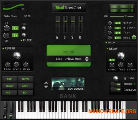 TrackGod Sound - TrackGod v1.0 WIN OSX (Team UNION) - Hip Hop / Trap VST