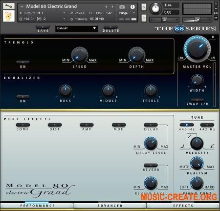 Chocolate Audio - The 88 Series - Model 80 Electric Grand (KONTAKT) - библиотека звуков электрического рояля Yamaha CP80