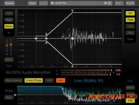 NuGen Audio - Monofilter v4.1.13.5 WiN/OSX (Team R2R) - плагин коррекции низких частот