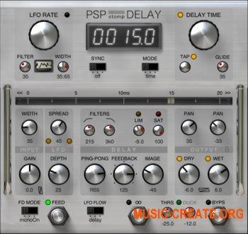 PSPaudioware stompDelay v1.0.1 WiN (Team R2R) - плагин дэлей