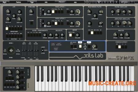 XILS-lab - miniSyn'X v2.0.1 CE AAX RTAS VSTi (Team V.R) - аналоговый синтезатор