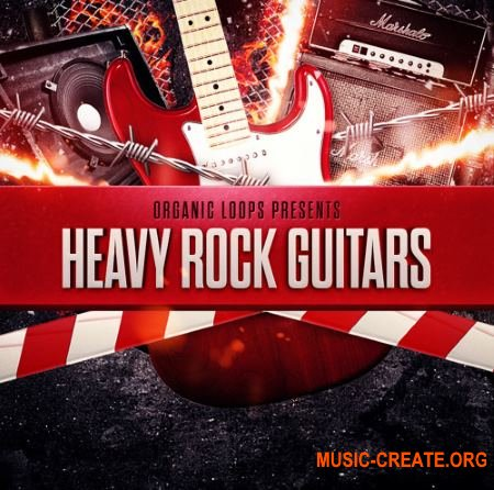 Organic Loops - Heavy Rock Guitars (WAV REX) - сэмплы рок гитар