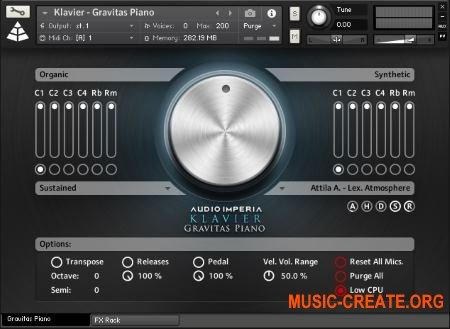 Audio Imperia - Klavier - Gravitas Piano (KONTAKT) - библиотека звуков фортепиано
