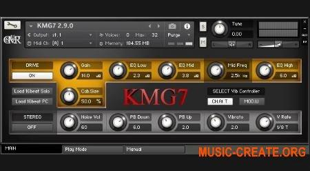 Studio Major 7th - KMG7 Heavy Metal Guitar v2.9.0 (KONTAKT) - библиотека звуков метал электрогитары