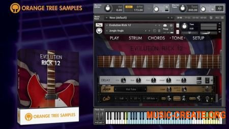 Orange Tree Samples - Evolution Rick 12 (KONTAKT) - библиотека электрической гитары