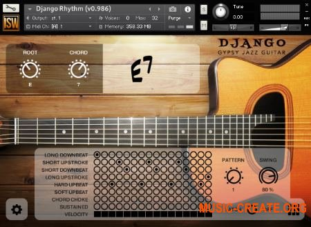 Impact Soundworks - Django Gypsy Jazz Guitar (KONTAKT) - библиотека звуков джаз гитары