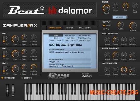 Beat Delamar - Zampler//RX v2.0 x32 x64 VST AU WIN MAC - сэмплер