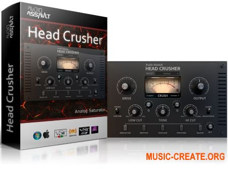 Audio Assault - Head Crusher v1.6 WiN/OSX RETAiL (Team SYNTHiC4TE) - плагин сатуратор
