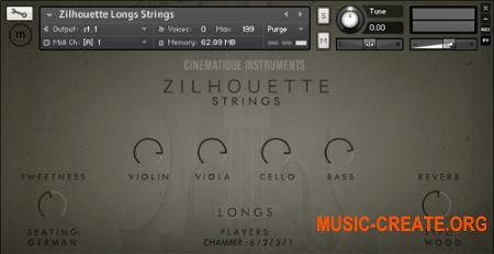 Cinematique Instruments - Zilhouette Strings (KONTAKT) - библиотека струнных