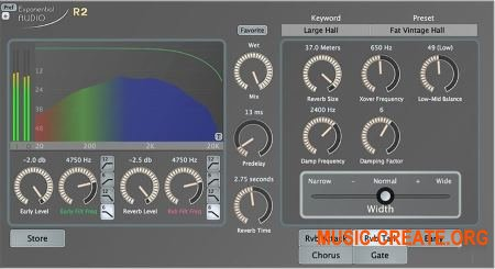 Exponential Audio - R2 Stereo Reverb v3.0.2 WIN (Team AudioUTOPiA) - плагин ревербератор