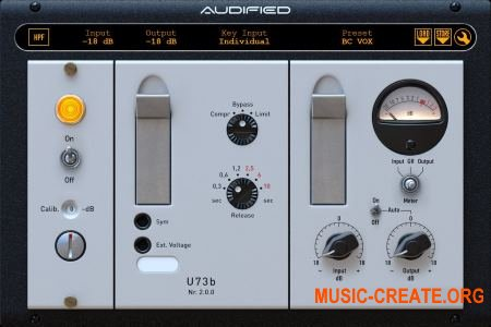 Audified U73b Compressor v2.0.0 (Team R2R) - плагин компрессор