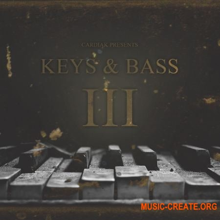 Flatline Kits Cardiak Presents Keys and Bass 3 (WAV) - сэмплы клавишных, Hip Hop, Rap