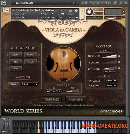 CineSample Viola da Gamba (KONTAKT) - библиотека звуков виолы да гамба