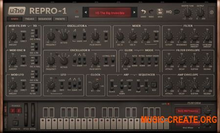 u-he Repro-1 v1.0.5332 AAX VST3 VST CE FiXED (Team VR) - аналоговый синтезатор