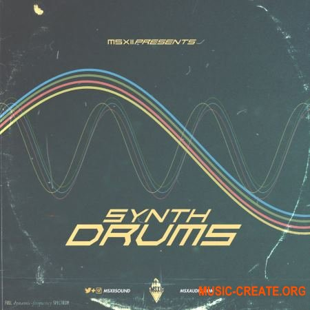 MSXII Sound Synth Drums (WAV) - драм сэмплы