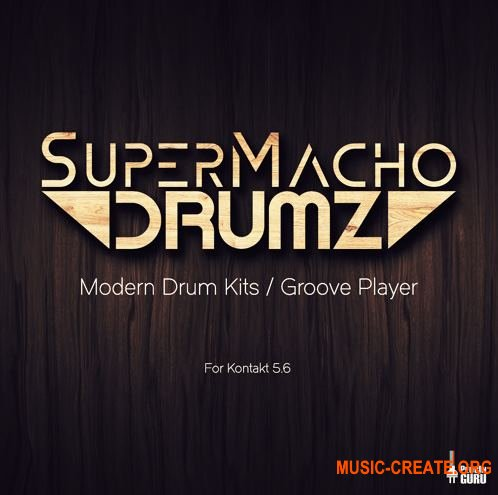 PluginGuru - SuperMacho Drums for Kontakt 5.6 - библиотека ударных
