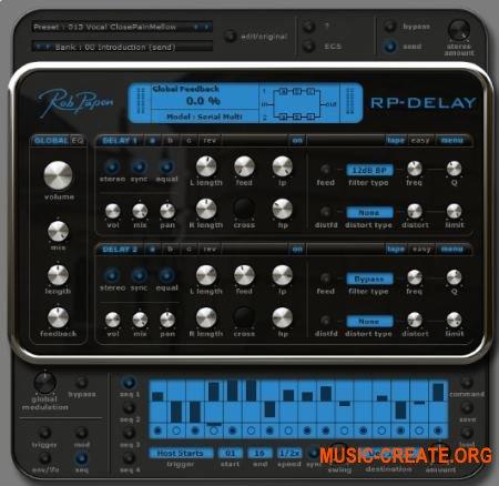 Rob Papen RP-Delay v1.0.1j (Team R2R) - плагин дэлей