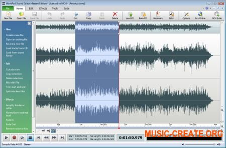 NCH Software WavePad Sound Editor Masters Edition 7.00 + Portable x86 - аудио редактор