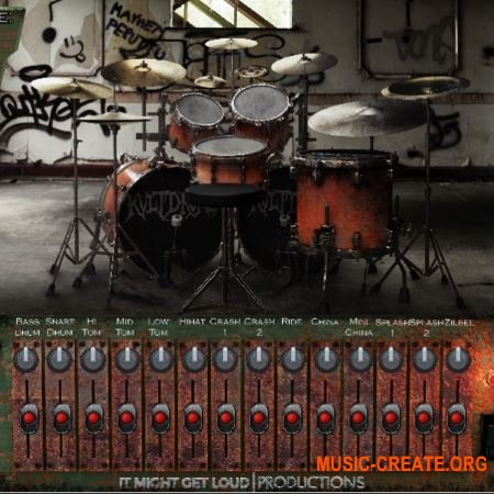 It Might Get Loud KVLT Drums WiN / OSX RETAiL (Team SYNTHiC4TE) - библиотека ударных в metal, punk стиле