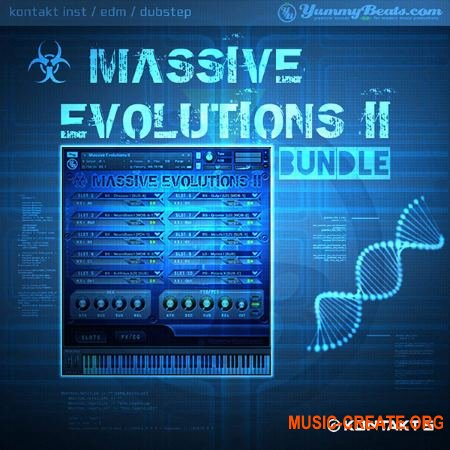 YummyBeats Massive Evolutions II Bundle (NMSV KONTAKT) - библиотека звуков Dubstep, Neuro Funk