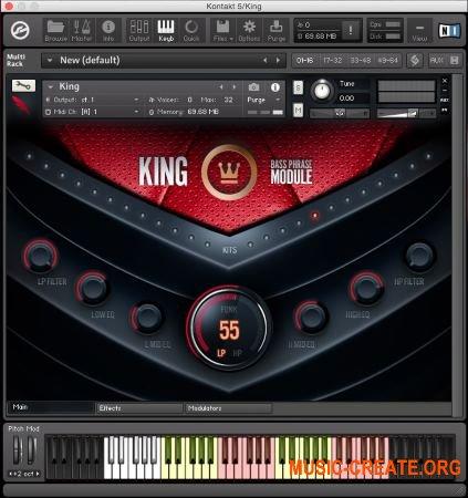 DelicateBeats KING (KONTAKT) - бас-фразовый инструмент