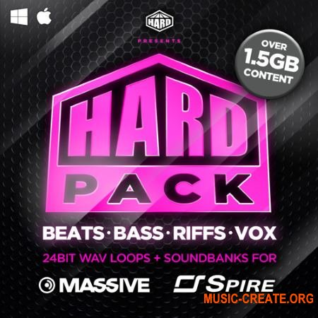 HARD Samples HARD Pack Vol.1 (WAV MASSiVE / SPiRE presets) - сэмплы EDM, Hardcore, Bass Music