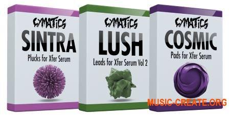 Cymatics Boxes: Sintra Plucks, Lush Leads Vol.2, Cosmic Pads (Serum presets)