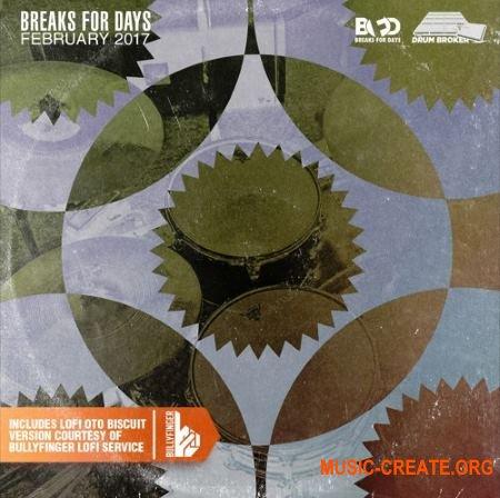 The Drum Broker Breaks for Days February 2017 (WAV) - сэмплы ударных