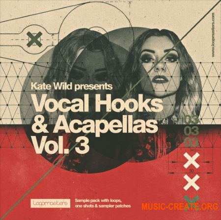 Loopmasters Kate Wild Vocal Hooks & Acapellas Vol.3 (WAV REX2 Sampler Patches) - сэмплы вокала