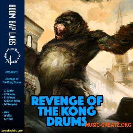 Boom Bap Labs Revenge of The Kong Drums (WAV) - сэмплы ударных, Hip Hop